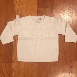 Janie and Jack sweater size 12-18 mths White NWT